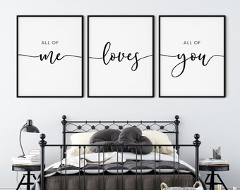 All Of Me Loves All Of You Etsy