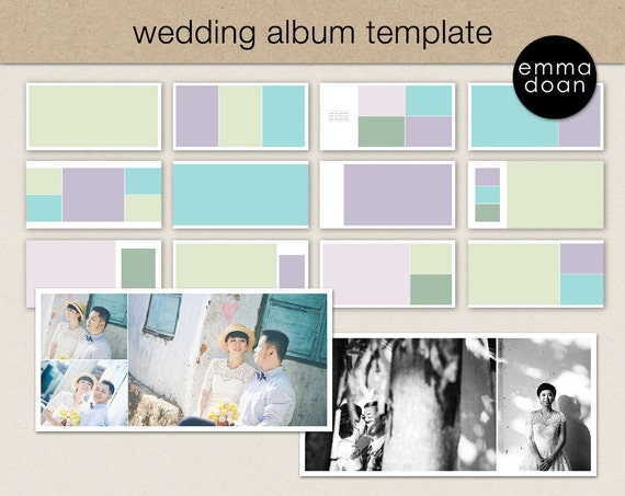 12x12 Wedding Album Template Photobook Template Photo | Etsy