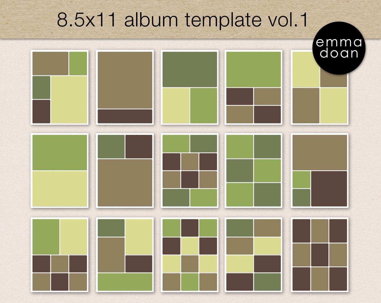 85x11 Album Template Photo Collage Photobook Photoshop Etsy