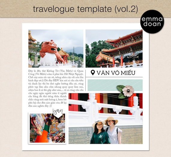 Travel Photobook Template Vol.2, 12*12