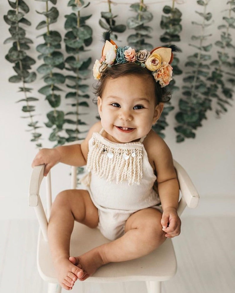 462e827866c9 Girls Rompers Boho Romper Bohemian Clothing Baby Romper Girl