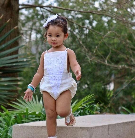 22b852f62b68 Baby Girl Romper Baby Romper Photography Prop Baby Bodysuit