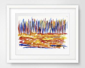 colored grass, colored landscape, original fine art, original wall art, original wall decor, modern abstract