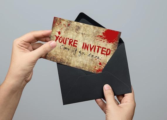 custom printable halloween invitation halloween party etsy