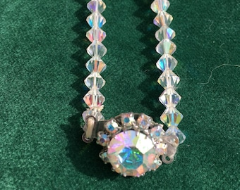 "1950s Crystal Necklace in Original Box - approx 15""/38cm"