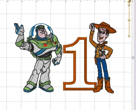 Buzz light year woody sheriff from toy story birthday etsy