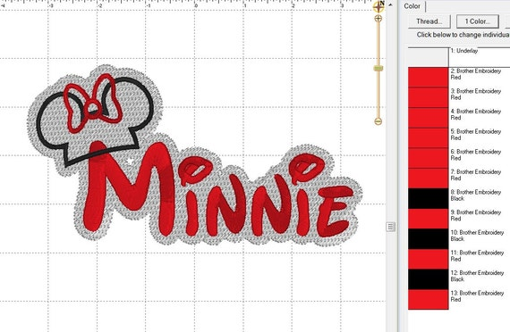 MINNIE Maus Disney mit Applikation Hut mit Umriss sichern | Etsy