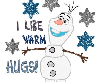 "Olaf ""I like Warm Hugs"" Frozen Full Embroidery Digital Design - INSTANT DOWNLOAD ~ 4x4, 5x7 and 6x10 Sizes"
