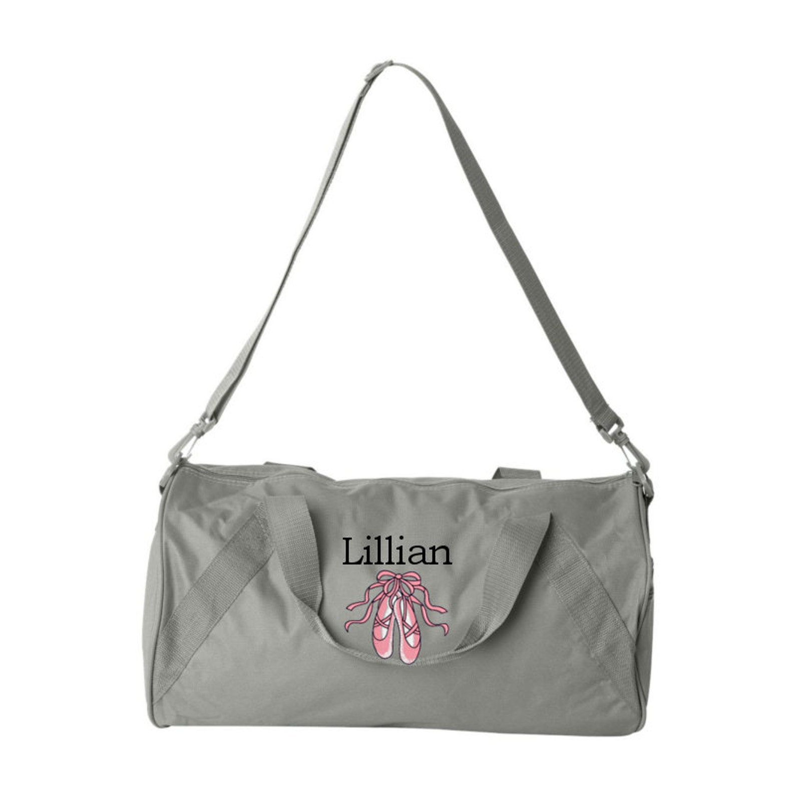 duffel bag * personalized ballet shoes duffle bags * sports dance team tote bag * custom ballerina bag with name * monogrammed g
