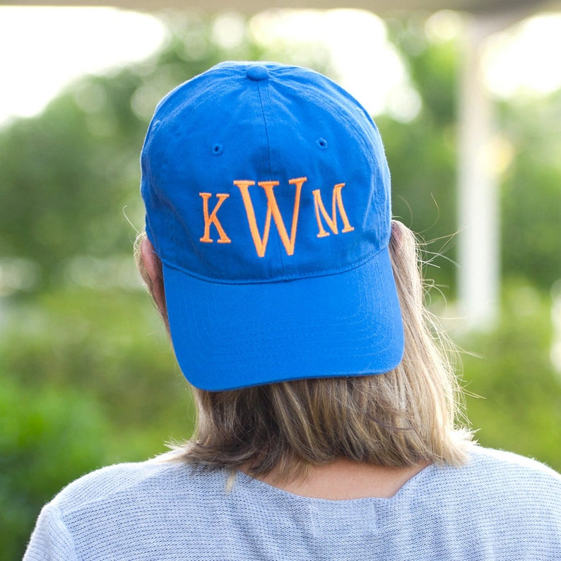 9d98a5f75f64a Personalized Royal Blue Ball Cap * Custom Embroidered Adult Womens Game Day  Hat with Name or Monogram * Monogrammed Ladies Gift
