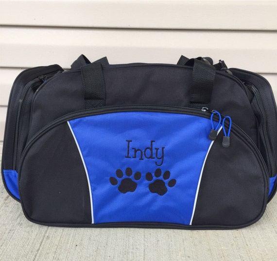 026c4b28285d Duffel Bag * Personalized Paw Prints Duffle Bags * Cat Dog Pet Vet Tech  Tote Bag * Custom Bag with Name * Monogrammed Gift