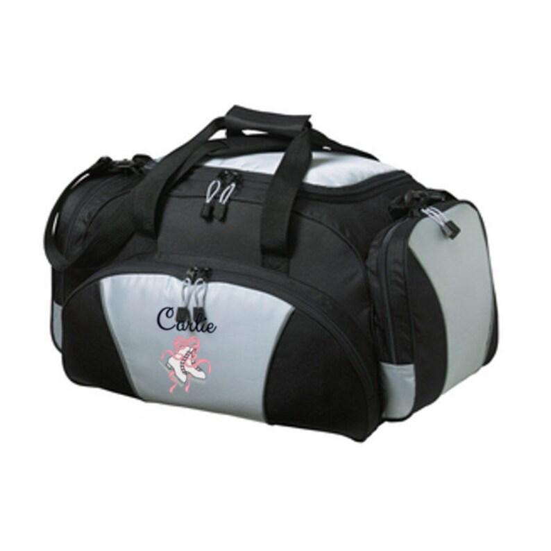 Duffel Bag Personalized Ice Skates Duffle Bags Sports Team  398c8a7c4efa7