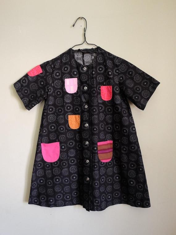 Marimekko Iloinen Takki girl shirt dress with colo