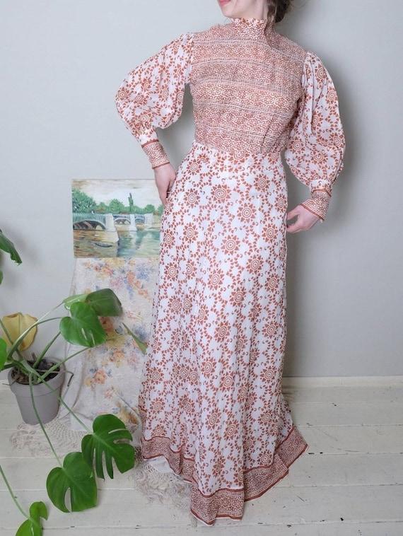 Raksha of London 70s Vintage Gauze dress poet slee