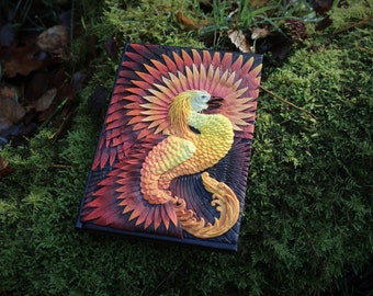 Phoenix polymer clay notebook cover size A6