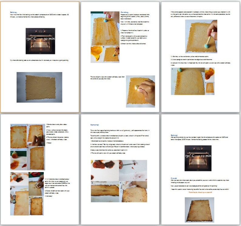 Tutorial How to make old paper from polymer clay