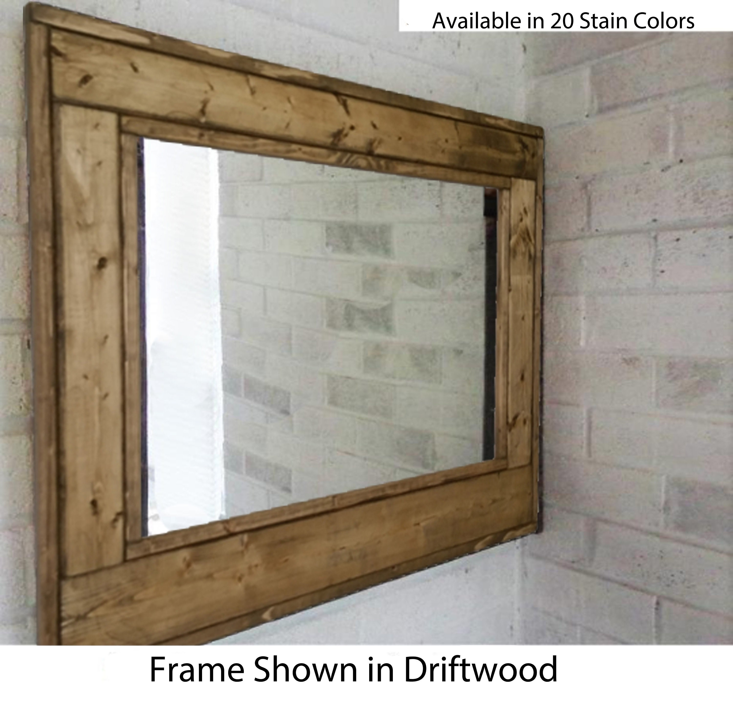 Reclaimed Flooring California: FREE SHIPPING Herringbone Reclaimed Wood Mirror Available