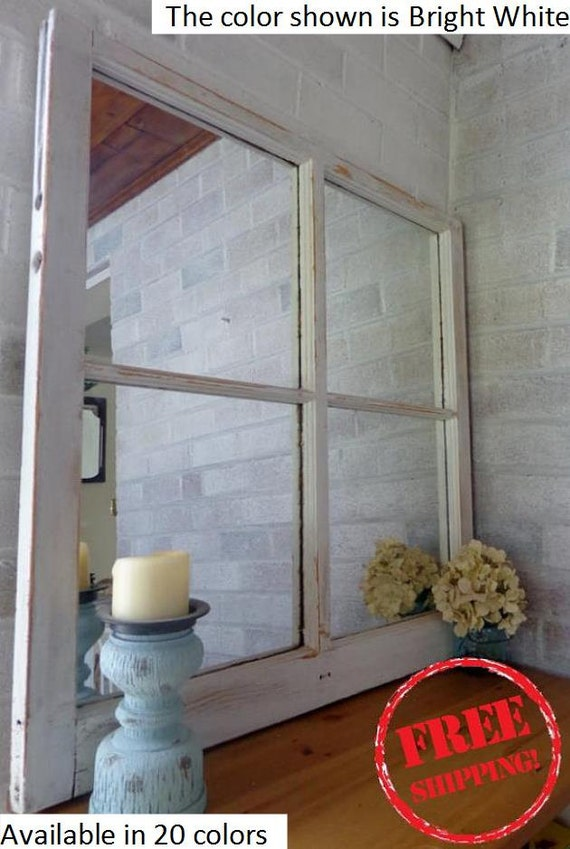Free Shipping Rustic Country 4 Pane Window Mirror By Lane