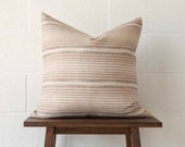JoJo Fletcher x Etsy Brown Stripe Pillow Cover | Pillow cover only | JoJo Fletcher x Etsy Holiday Collection