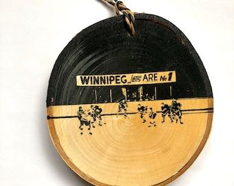 Winnipeg Jets Vintage Photo 2-Sided Wall Ornament