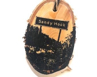 Sandy Hook Highway 9 Road Sign (Manitoba, Canada) Ornament