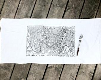 1908 Winnipeg Map Tea Towel