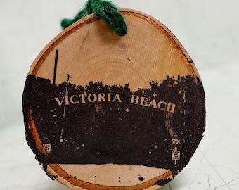 Victoria Beach Manitoba Sign Ornament