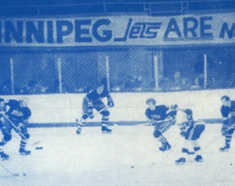 Vintage Winnipeg Jets Photo Tea Towel