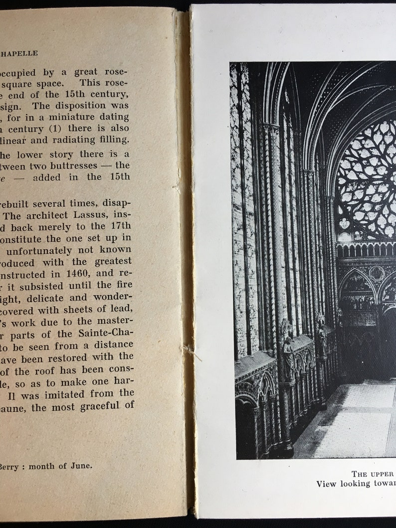1940s Tourist Guide to The Sainte Chapelle in English by Wanda Rabaud