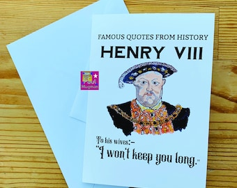 Famous Quotes From History Greetings Card , Blank Inside