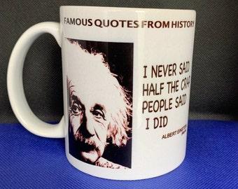 Einstein Mug, famous quotes, Meme mug, fun mug