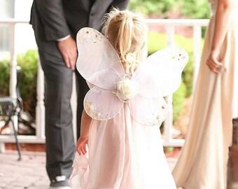 Butterfly girls fairy angel wings, glitter wings, flower wings, photo prop, wedding wings, butterfly wings,  child wings, birthday wings