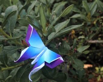 Purple Blue Origami Butterfly