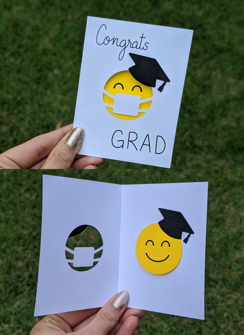 Congrats Grad  Quarantine Graduation Card  Social Distancing image 0