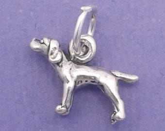 POINTER Charm .925 Sterling Silver Miniature Small Dog - lp3548