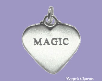 Magic Two-sided Heart .925 Solid Sterling Silver Charm Pendant Made In Usa In Many Styles Fine Jewellery Jewellery & Watches