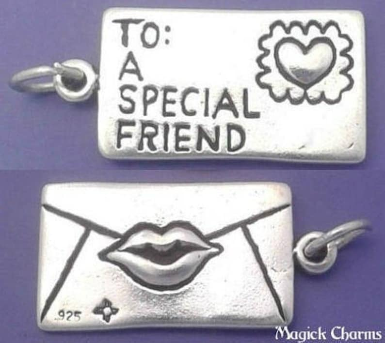 SPECIAL FRIEND Love Letter Charm .925 Sterling Silver Sealed image 0