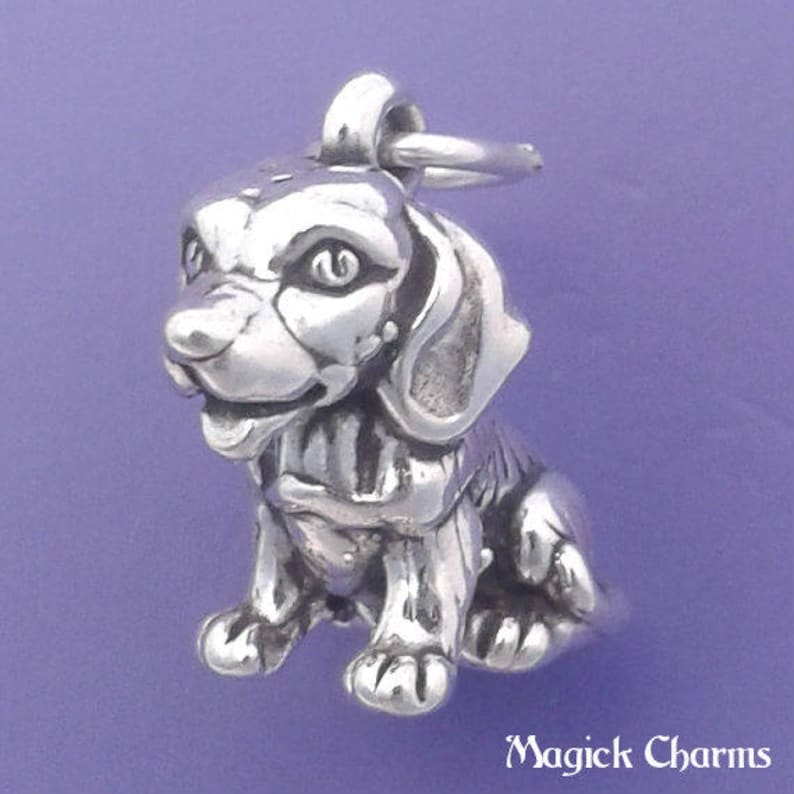 BEAGLE Charm .925 Sterling Silver Dog Pendant  lp2426 image 0