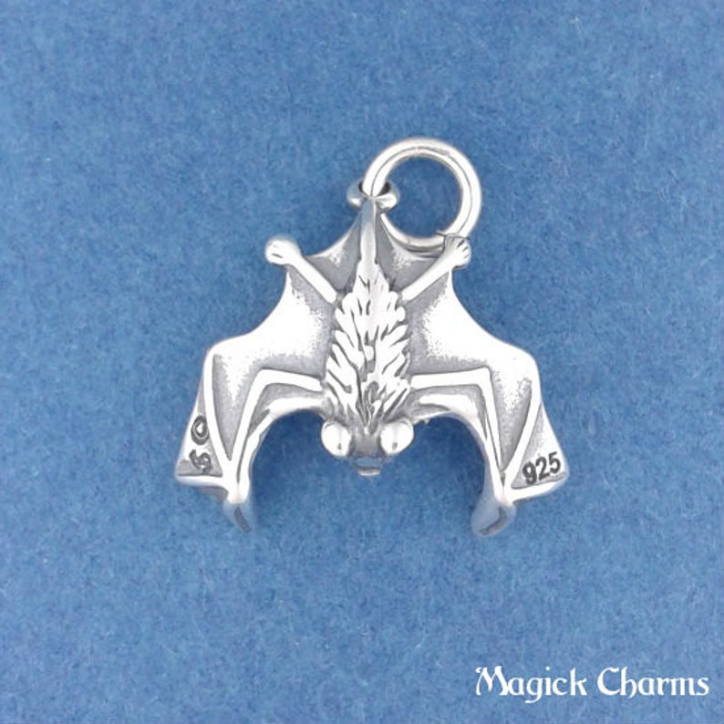 lp3596 .925 Sterling Silver 3-D  WITCH BROOM Halloween Broomstick Charm Pendant