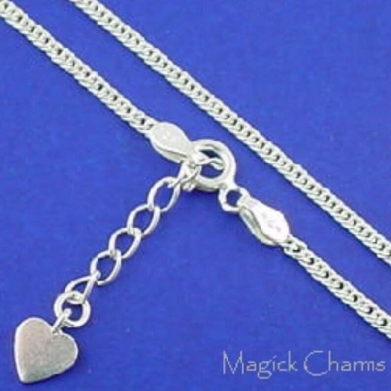 ANKLET .925 Sterling Silver Curb Link Ankle Bracelet image 0