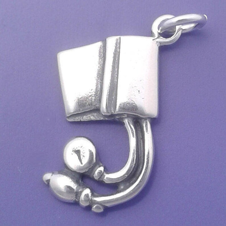 BLOOD PRESSURE Cuff Charm .925 Sterling Silver Doctor Nurse image 0