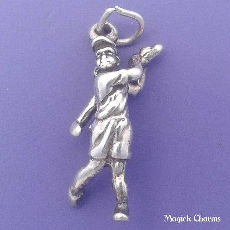 GOLFER Charm .925 Sterling Silver Female Golfing Pendant  image 0