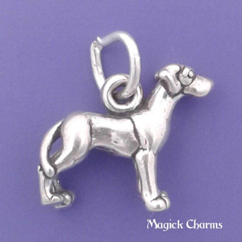 GREAT DANE Charm .925 Sterling Silver Miniature Small Dog  image 0