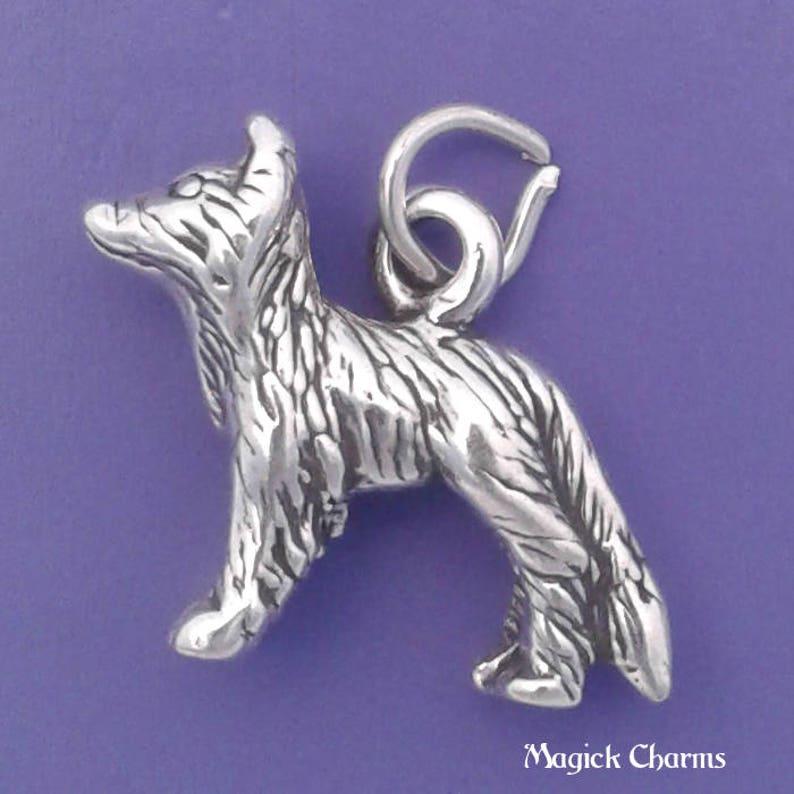 BORDER COLLIE Charm .925 Sterling Silver Dog Pendant  lp4108 image 0