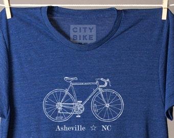 Asheville tshirt, Asheville NC shirt, Asheville bike tee, bicycle shirt