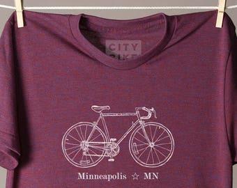 f3430e7b Minneapolis bike tee, Minneapolis tshirt, Minneapolis shirt, Minnesota  tshirt, Minnesota tee shirt