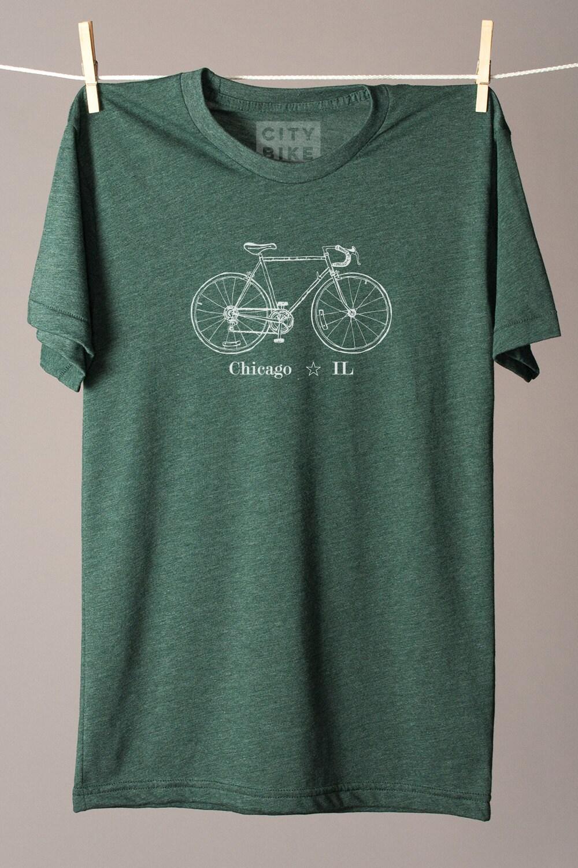 Chicago Bike Tee Chicago T Shirt Chicago Illinois T Shirt Etsy