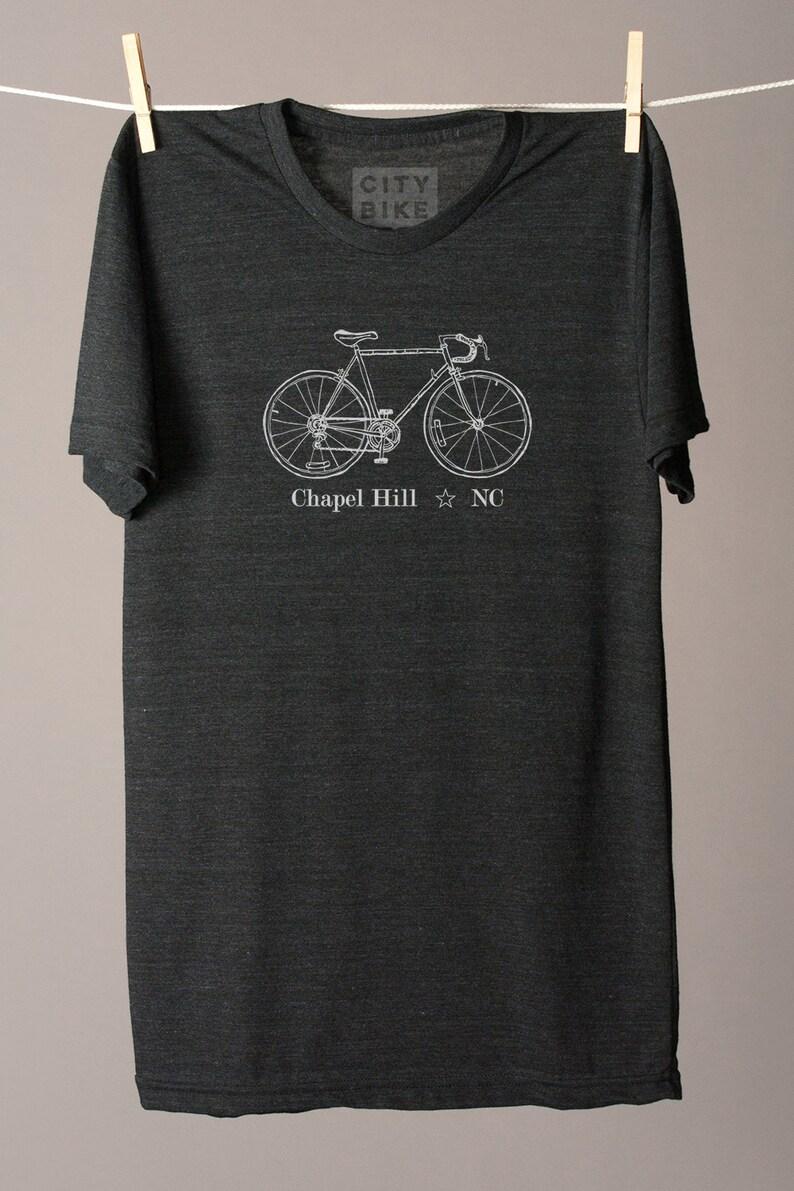 6f1a706bf Chapel Hill bike tee cycling tee Chapel Hill tshirt North   Etsy