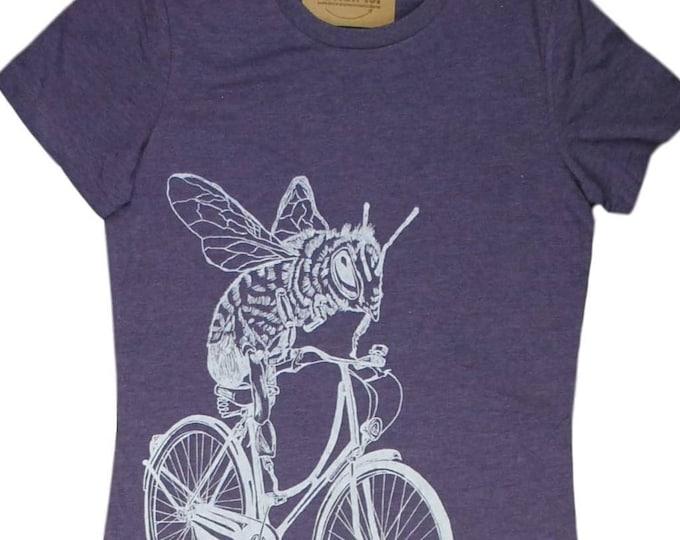 T Shirts for Women | Honey Bee Womens Tshirt | Purple Womens Tops | Trendy Womens Clothing | Funny Tops for Women | Cool Tshirt for Women