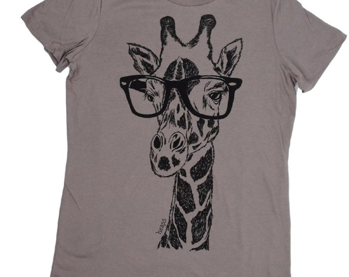 Womens T Shirt | Hipster Clothing | Graphic Tee | Giraffe Tee | Printed Hipster TShirt | Short Sleeve Geek T-shirt Giraffe T Shirt Ladies